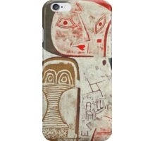 Paul Klee - Printed Sheet With Picture. Abstract painting: abstract art, geometric, woman, composition, lines, forms, creative fusion, spot, shape, illusion, fantasy future iPhone Case/Skin