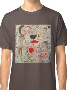 Paul Klee - Printed Sheet With Picture. Abstract painting: abstract art, geometric, woman, composition, lines, forms, creative fusion, spot, shape, illusion, fantasy future Classic T-Shirt