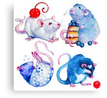 Sweet Rats Canvas Print