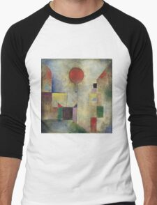 Paul Klee - Red Balloon. Abstract painting: abstract art, geometric, Balloon, composition, lines, forms, creative fusion, spot, shape, illusion, fantasy future Men's Baseball ¾ T-Shirt