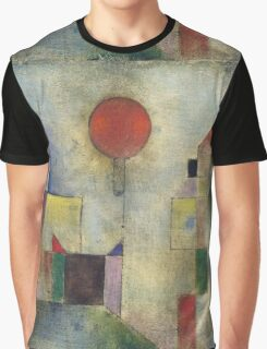 Paul Klee - Red Balloon. Abstract painting: abstract art, geometric, Balloon, composition, lines, forms, creative fusion, spot, shape, illusion, fantasy future Graphic T-Shirt