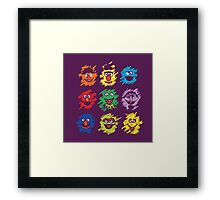 Every colors on Sesame Framed Print
