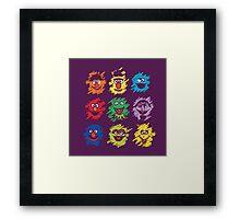 Every colors on Sesame Framed Print