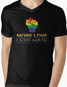More Love Less Hate Mens V-Neck T-Shirt