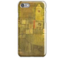Paul Klee - Small Village In The Autumn Sun. Abstract painting: abstract art, geometric,  Village, Autumn, lines, forms, Sun, spot, shape, illusion, fantasy future iPhone Case/Skin