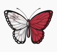 Maltese Flag Butterfly Kids Clothes