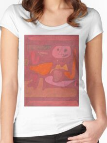 Paul Klee - The Man Of Confusion. Abstract painting: abstract art, geometric,  Man , Confusion, lines, forms, creative fusion, spot, shape, illusion, fantasy future Women's Fitted Scoop T-Shirt