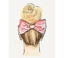 Pink bow, big bun Photographic Print