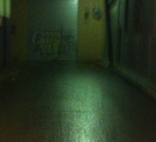 In a dark alley Sticker