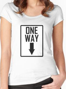 One way sign Women's Fitted Scoop T-Shirt