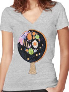 the tree Women's Fitted V-Neck T-Shirt