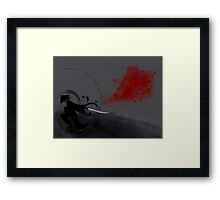 Samurai Blood Framed Print