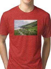 Muckross Coast, Kilcar, Co. Donegal Tri-blend T-Shirt