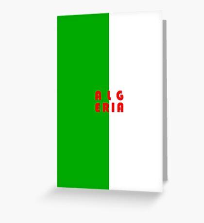 World Cup: Algeria Greeting Card