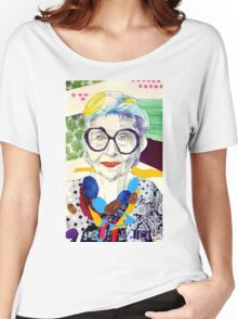 Iris Apfel fanart Women's Relaxed Fit T-Shirt