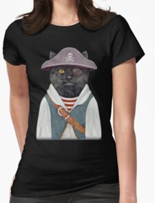 Pirate Cat Womens Fitted T-Shirt