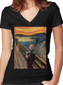 Ssshhh.... Women's Fitted V-Neck T-Shirt