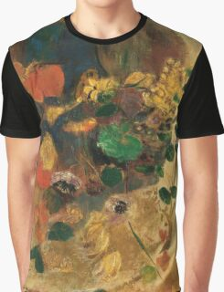 Odilon Redon - Mystery 1910. Garden landscape: garden view, trees and flowers, blossom, nature, woman, Mystery, wonderful flowers, dream, think, garden, flower Graphic T-Shirt