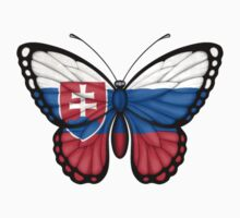 Slovakian Flag Butterfly Kids Clothes
