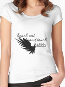 Reach out and touch faith Women's Fitted Scoop T-Shirt