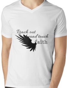 Reach out and touch faith Mens V-Neck T-Shirt