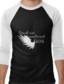 Reach out and touch faith -white Men's Baseball ¾ T-Shirt
