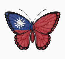 Taiwanese Flag Butterfly Kids Clothes
