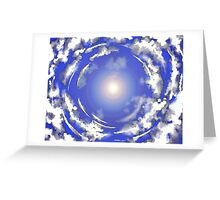 the sun above Greeting Card