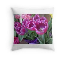 Forever Springtime Tulips Throw Pillow! Throw Pillow