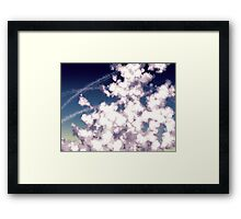 bubbly column clouds Framed Print