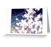 bubbly column clouds Greeting Card