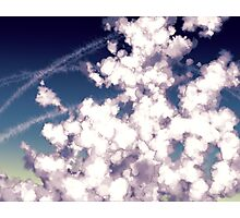 bubbly column clouds Photographic Print