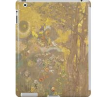 Odilon Redon - Trees On A Yellow Background 1901. Garden landscape: garden view, trees and flowers, blossom, nature, botanical park, floral flora, wonderful flowers, plants, cute plant, garden, flower iPad Case/Skin