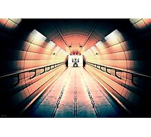 Robot Guarding Tunnel Photographic Print