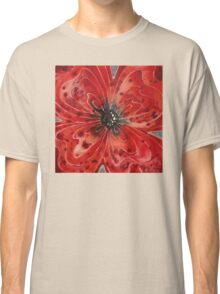 Red Flower 1 - Vibrant Red Floral Art Classic T-Shirt