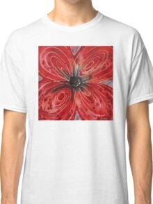 Red Flower 2 - Vibrant Red Floral Art Classic T-Shirt