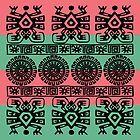 Coral and Turquoise Aztec by Greenbaby