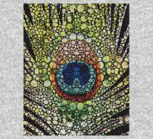 Peacock Feather - Stone Rock'd Art by Sharon Cummings Kids Tee