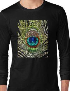 Peacock Feather - Stone Rock'd Art by Sharon Cummings Long Sleeve T-Shirt