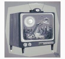 Kooky TV Tee by elgatogomez