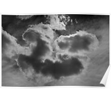 Cloudscape XVII BW Poster