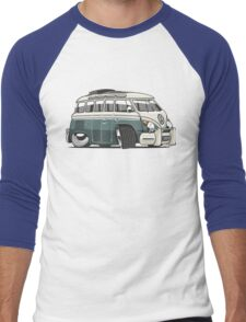 VW T1 23 window cartoon green Men's Baseball ¾ T-Shirt