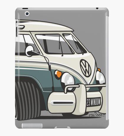 VW T1 23 window cartoon green iPad Case/Skin
