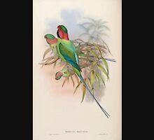 Birds of Asia John Gould 1883 V1 V7 393 Palaeornis Malaccensis Unisex T-Shirt