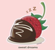Cute Sweet Dreams Chocolate Strawberry by kimchikawaii