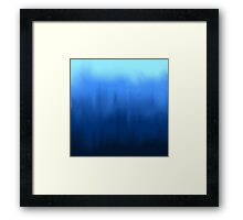 Blue Painted Gradient Framed Print