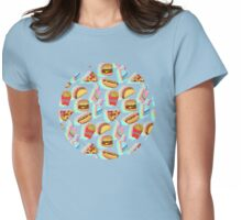 Rainbow Fast Food Womens Fitted T-Shirt