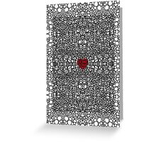 Pattern 19 - Heart Art - Black And White Exquisite Pattern By Sharon Cummings Greeting Card