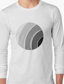 Brush Abstract 4 Grey Long Sleeve T-Shirt