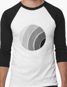 Brush Abstract 4 Grey Men's Baseball ¾ T-Shirt